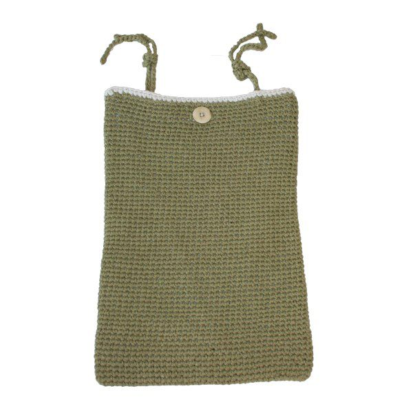 fair and cute opbergzak staand olive green