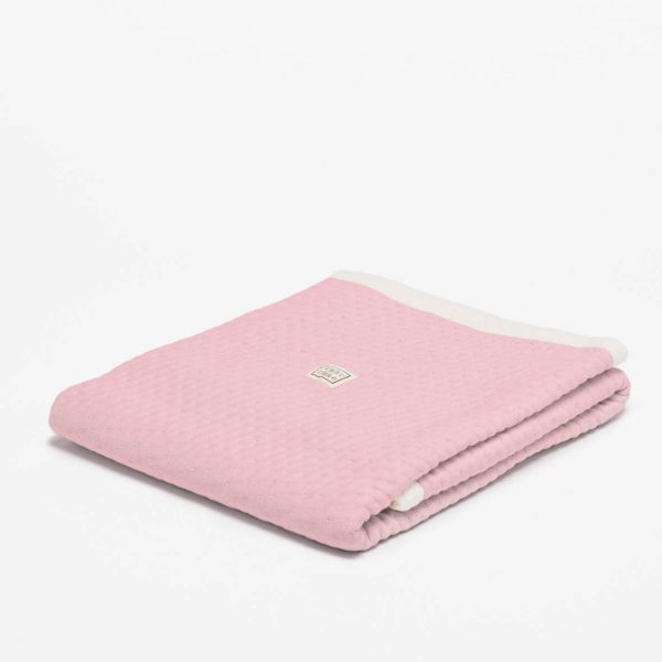 fair and cute wiegdeken zomer light pink